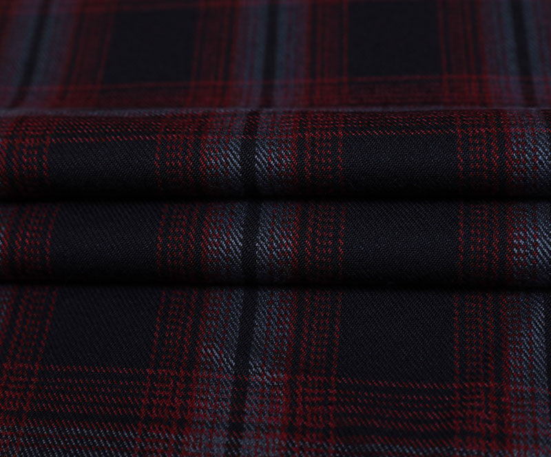 Plaid Cloth 10028(T/R WOVEN FABRIC、OVERCOAT,GRID)