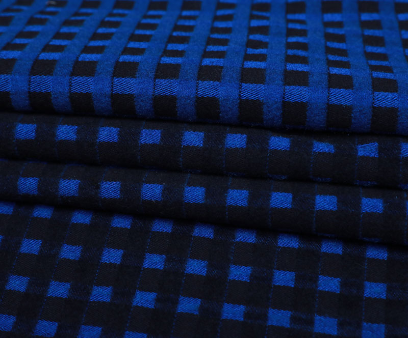Plaid Cloth 11S41(T/R WOVEN FABRIC、OVERCOAT,GRID)