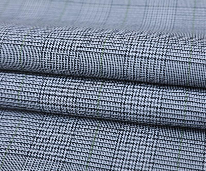 Plaid Cloth 3381(T/R/SP WOVEN FABRIC、SUIT、PANTS)